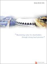 2001년 Annual Report 표지