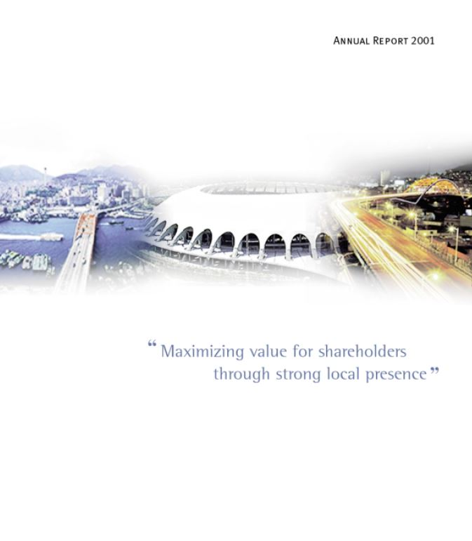 pusan bank 2001 Annual Report